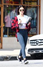 LUCY HALE Leaves a Gym in Studio City 06/02/2019