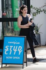 LUCY HALE Leaves a Gym in Studio City 06/07/2019