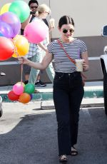 LUCY HALE Leaves Coffee Bean in Los Angeles 06/15/2019
