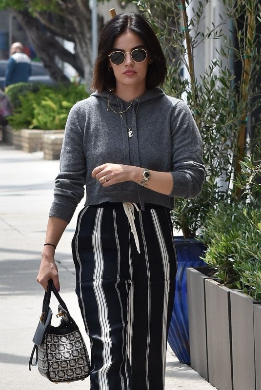 LUCY HALE Out and About in Studio City 06/25/2019