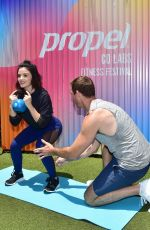 LUCY HALE Trains for the Propel Co Labs Fitness Festival in West Hollywood 06/19/2019