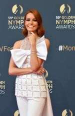 MAEVA COUCKE at 59th Monte Carlo TV Festival Golden Nymph Awards Ceremony 06/19/2019