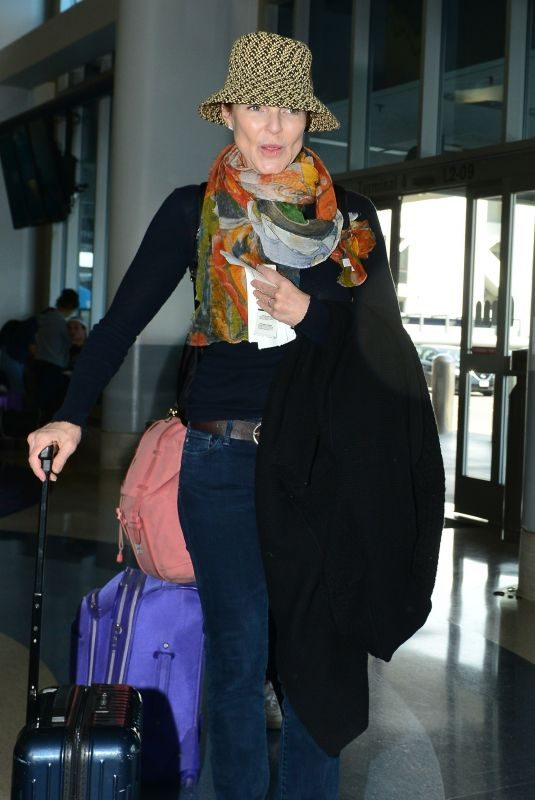 MARCIA CROSS at LAX Airport in Los Angeles 06/01/2019