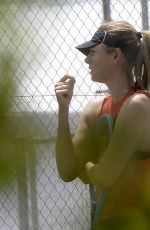 MARIA SHARAPOVA Arrives at training in Mallorca 06/08/2019