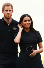 MEGHAN MARKLE and Prince Harry at Pre-game Ceremonies at MLB London Series Game 06/29/2019
