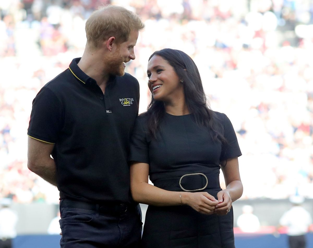 MEGHAN MARKLE And Prince Harry At Pre-game Ceremonies At