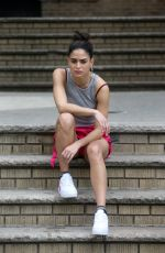 MELISSA BARRERA on the Set of In the Heights in New York 06/07/2019