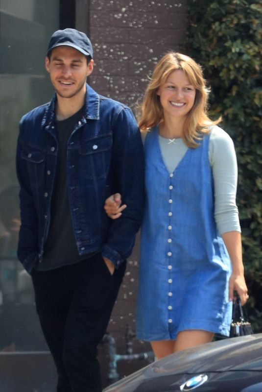 MELISSA BENOIST and Chris Wood Out in West Hollywood 06/03/2019