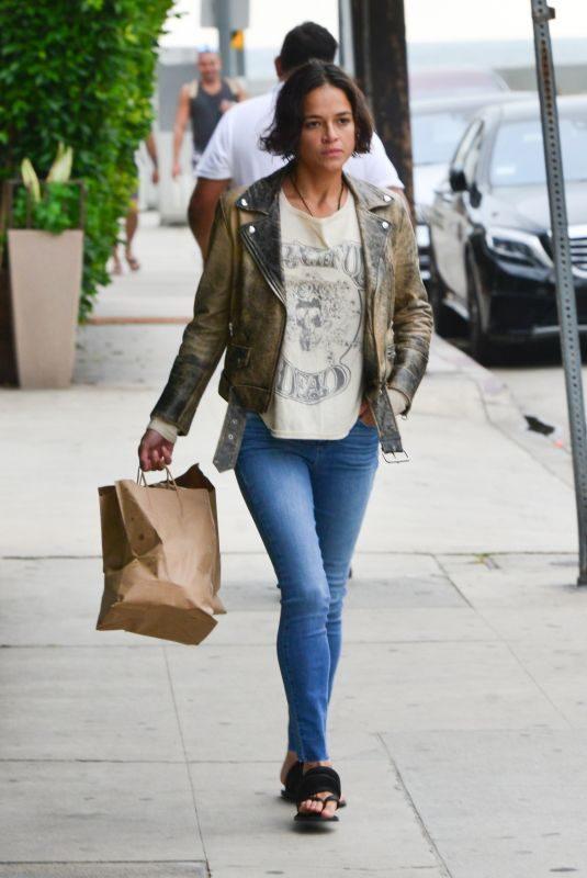 MICHELLE RODRIGUEZ Leaves Giorgio Baldi in Santa Monica 06/13/2019
