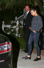 MILA KUNIS and Ashton Kutcher at Scooter Braun 38th Birthday in West Hollywood 06/18/2019