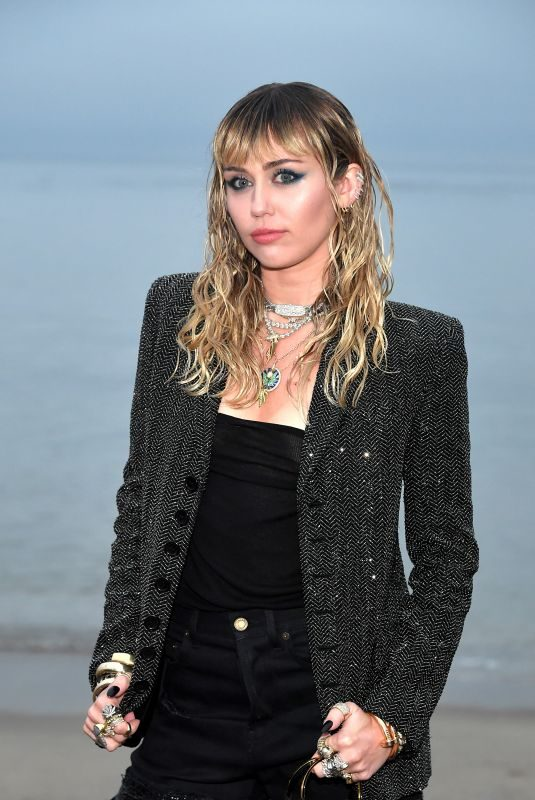 MILEY CYRUS at Saint Laurent Men's Spring/Summer 2020 Fashion Show in Malibu 06/06/2019