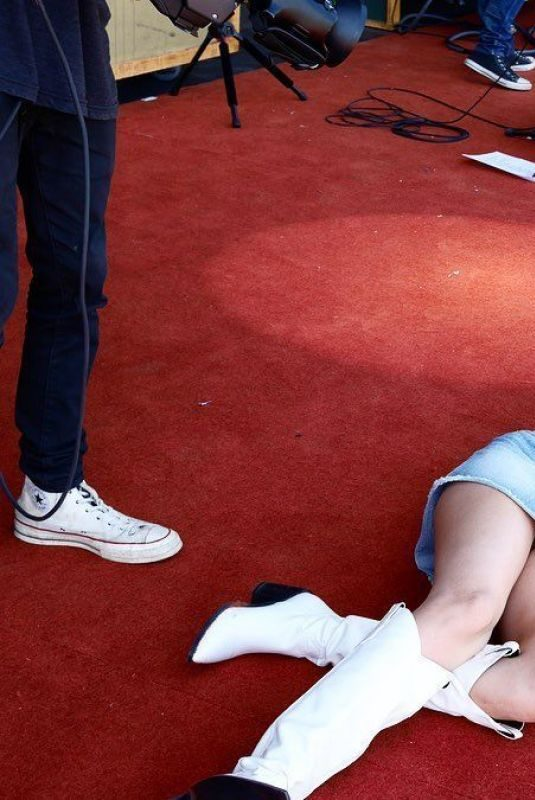 MILEY CYRUS Lying on Red Carpet at Primavera Sound in Spain 06/01/2019