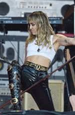 MILEY CYRUS Performs at Glastonbury Festival 06/30/2019