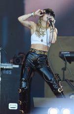 MILEY CYRUS Performs at Glastonbury Festival 06/30/2019