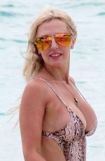 NAOMI ISTED in Bikini and Swimsuit on the Beach in Caribbean 05/28/2019