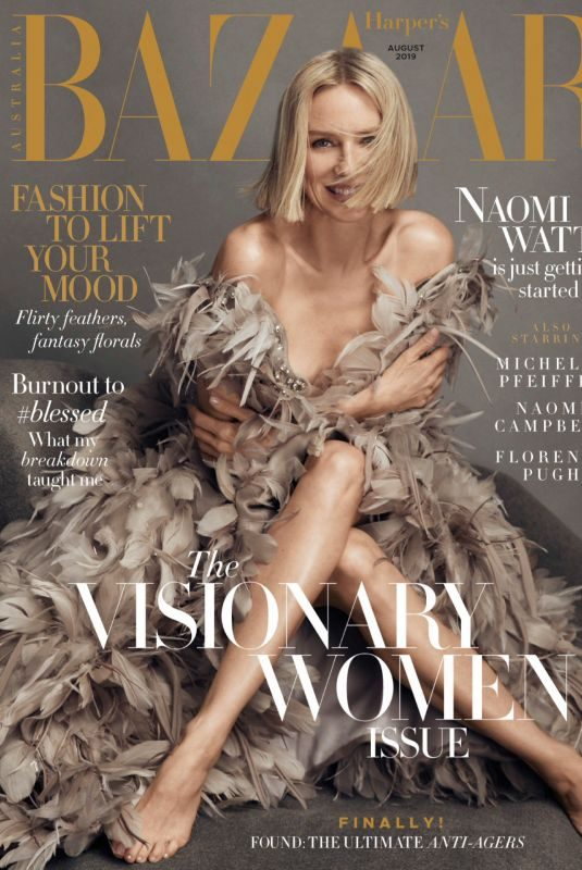NAOMI WATTS in Harper's Bazaar Magazine, Australia August 2019