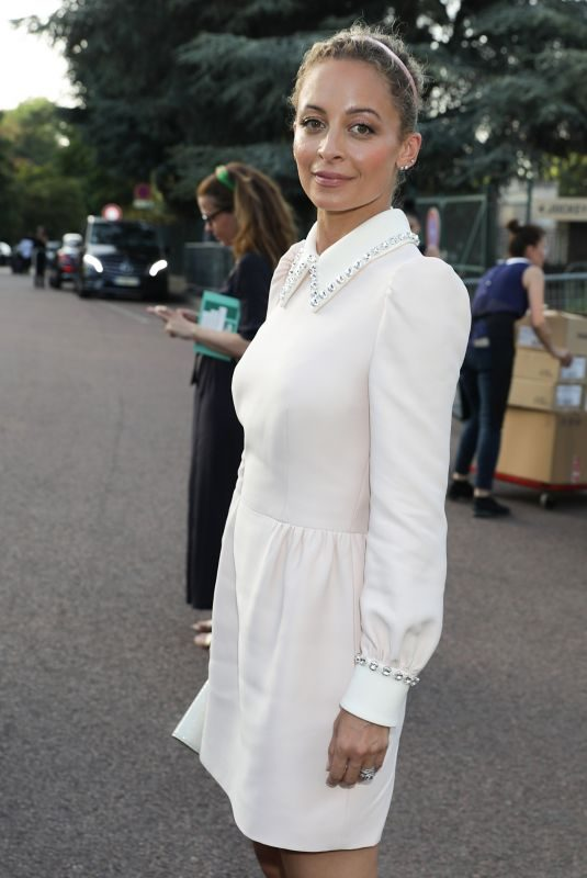 NICOLE RICHIE Arrives at Miu Miu Resort 2020 Show in Paris 06/29/2019