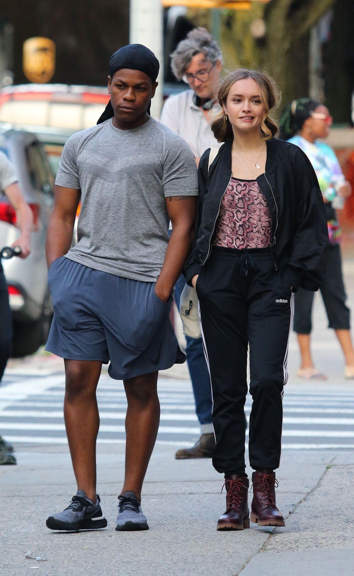 Street Style - Olivia Cooke and John Boyega on the Set of