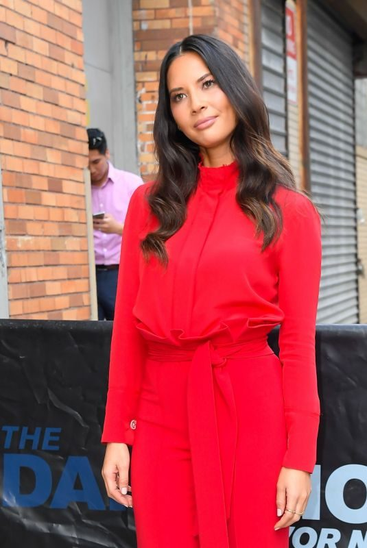 OLIVIA MUNN Leaves Daily Show with Trevor Noah in New York 06/25/2019