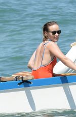 OLIVIA WILDE in Swimsuit on the Beach in Maui 06/18/2019