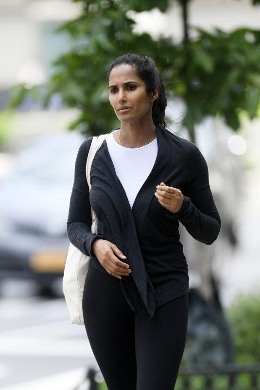 PADMA LAKSHMI Leaves a Gym in New York 06/03/2019