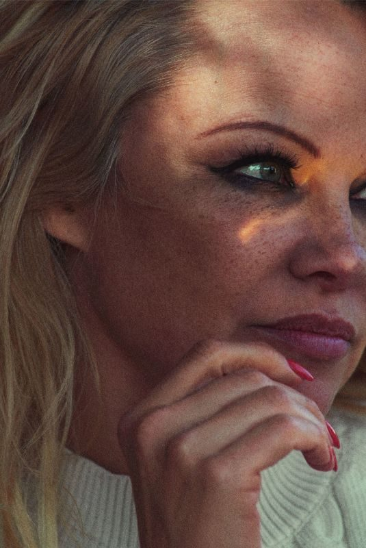PAMELA ANDERSON in Porter Summer Escape 2019