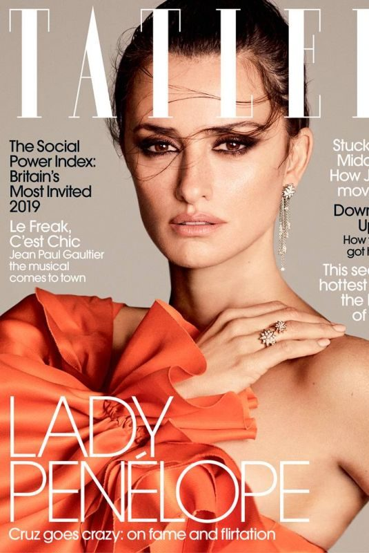 PENELOPE CRUZ in Tatler Magazine, August 2019