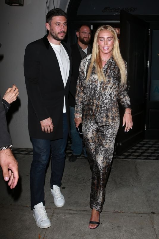 PETRA ECCLESTONE and Sam Palmer at Craig's in West Hollywood 06/24/2019