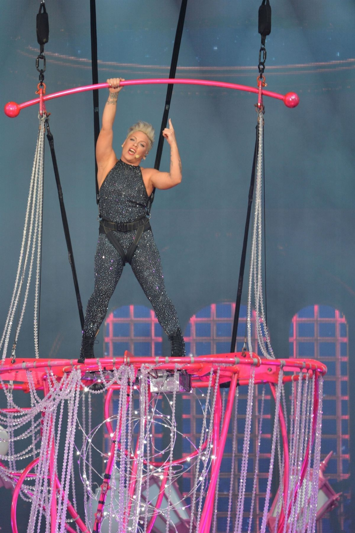 Pink - Performs at Beautiful Trauma World Tour in Austin