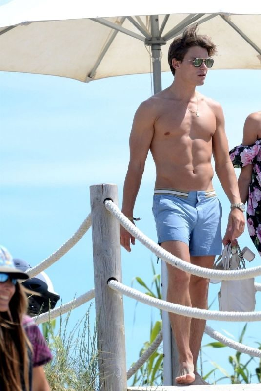 PIXIE LOTT and Oliver Cheshire Out in Formentera 06/03/2019