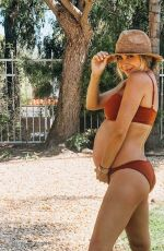 Pregnant DANIELLE MONET in Bikini at a Pool - Instagram Pictures, June 2019