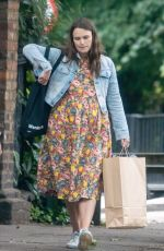 Pregnant KEIRA KNIGHTLEY Out in London 06/15/2019