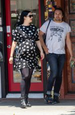 Pregnant KRYSTEN RITTER Out for Lunch in Hollywood 06/03/2019