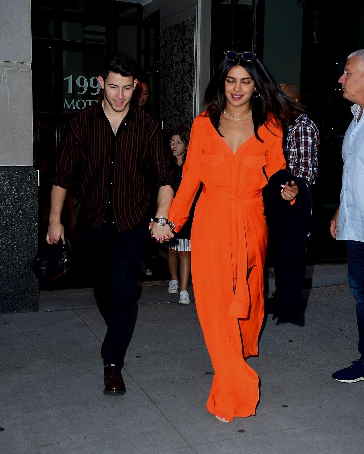 PRIYANKA CHOPRA And Nick Jonas Out In New York 06/15/2019