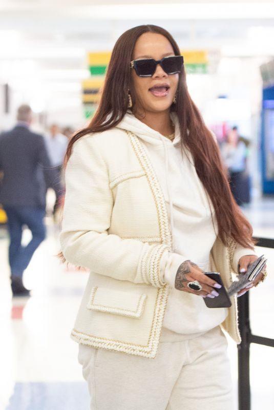 RIHANNA at JFK Airport in New York 06/08/2019