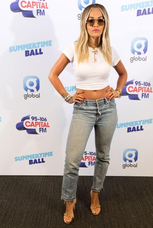 RITA ORA at Capital FM Summertime Ball 2019 at Wembley Arena in London 06/08/2019