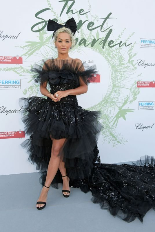 RITA ORA at Naked Heart Foundation: The Secret Garden Charity Gala in Switzerland 06/13/2019
