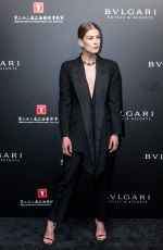 ROSAMUND PIKE at Bvlgari High Jewelry Exhibition in Shanghai 06/18/2019