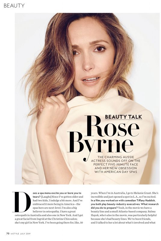 ROSE BYRNE in Instyle Magazine, July 2019