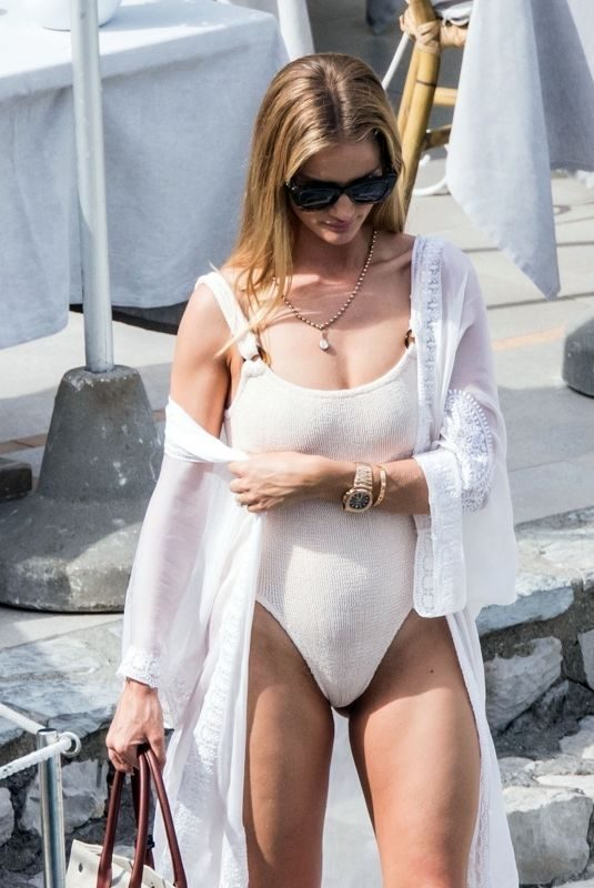 ROSIE HUNTINGTON-WHITELEY in Swimsuit in Capri 06/13/2019