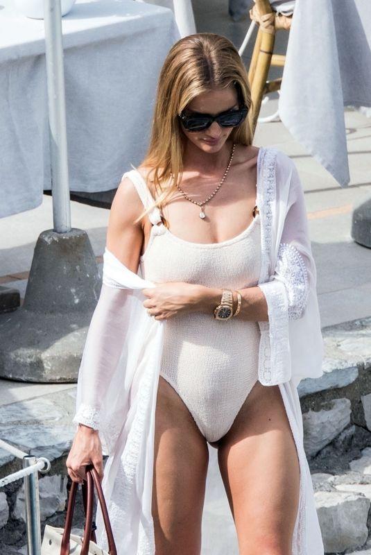 ROSIE HUNTINGTON-WHITELEY in Swimsuit in Capri 06/13/2019
