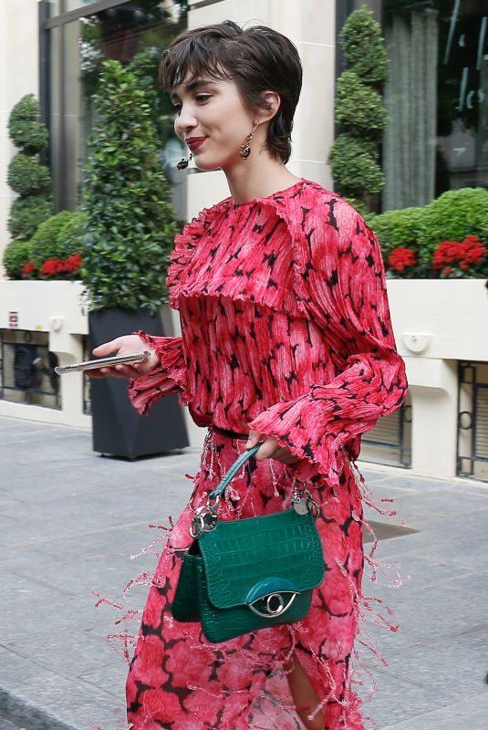ROWAN BLANCHARD Leaves Her Hotel in Paris 06/23/2019