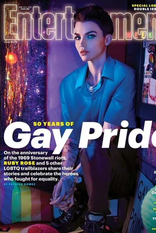RUBY ROSE on the Cover of Entertainment Weekly, June 2019