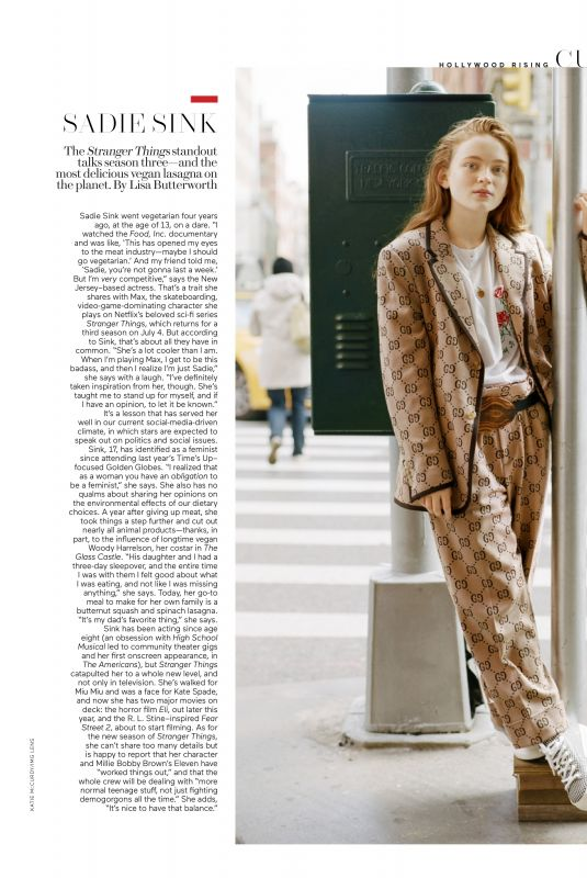 SADIE SINK in Elle Magazie, July 2019