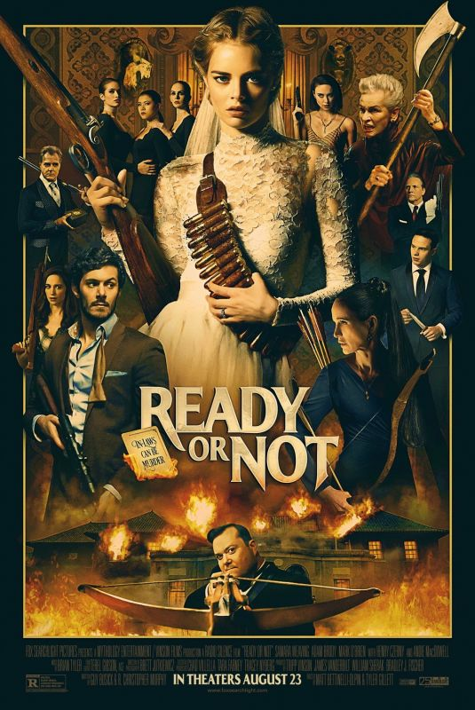SAMARA WEAVING - Ready or Not Poster and Trailer