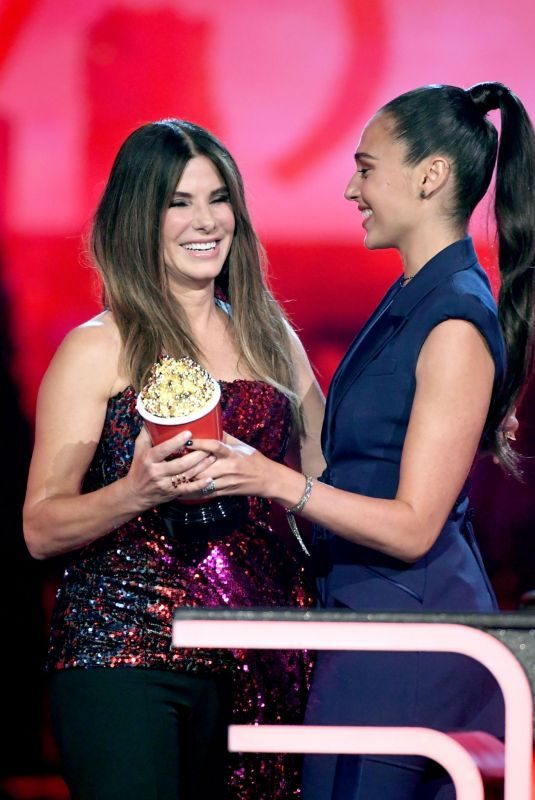 SANDRA BULLOCK and GAL GADOT at 2019 MTV Movie & TV Awards in Los Angeles 06/15/2019
