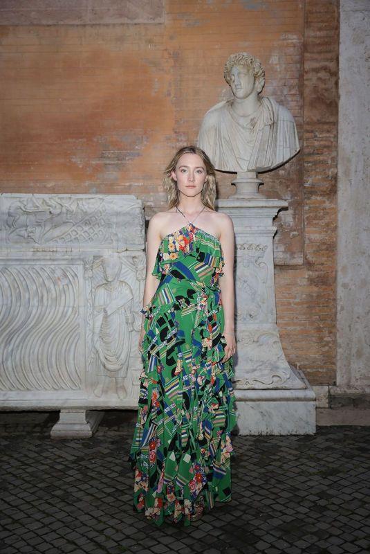 SAOIRSE RONAN at Gucci Cruise Show in Rome 05/28/2019