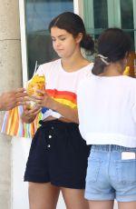 SELENA GOMEZ Buys Fruit in Punta De Mita 06/30/2019