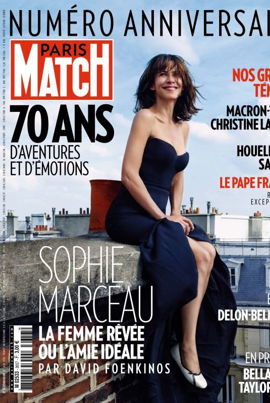 SOPHIE MARCEAU in Paris Match Magazine, June/August 2019