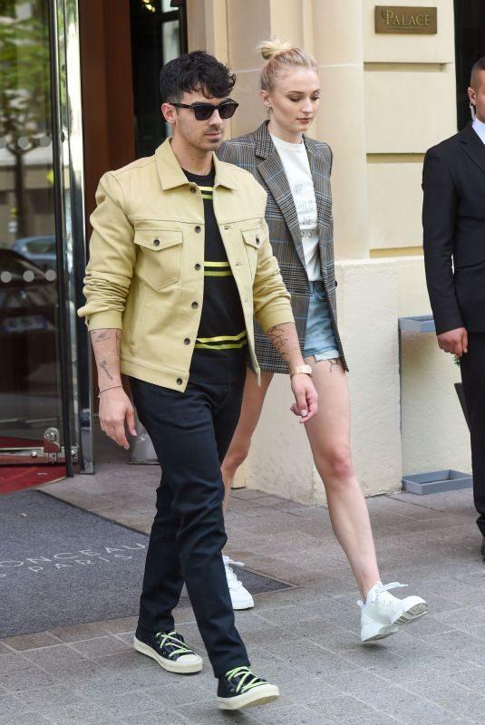 SOPHIE TURNER and Joe Jonas Out in Paris 06/23/2019